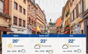 Météo Mulhouse: Prévisions du lundi 17 juin 2019