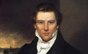 Un portrait du fondateur de l'Eglise mormone, Joseph Smith, par un artiste inconnu.