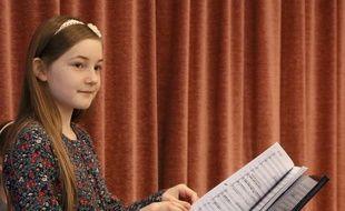 Alma Deutscher, 11 ans, photographiée le 17 novembre 2016, a écrit un opéra qui est donné à Vienne, en Autriche.