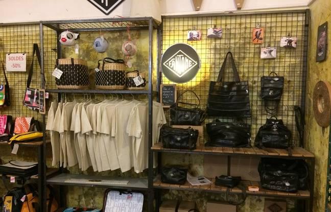 La marque FANTOME propose des sacs et accessoires fabriqués à partir de chambres à air de vélo récupérées.