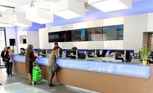 Le nouvel office du tourisme est abrité dans un immeuble haussmannien.