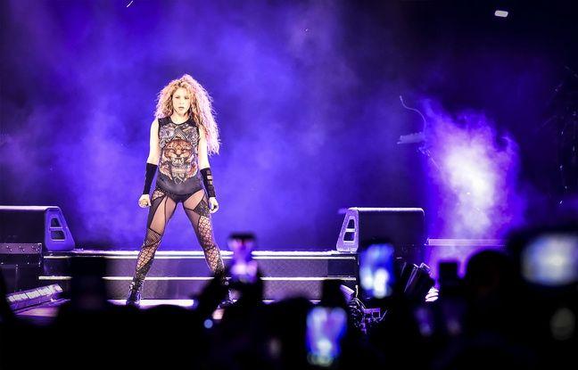 La chanteuse colombienne Shakira, à la Bordeaux Métropole Arena, le 24 juin 2018.