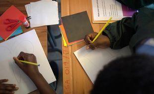 Les élèves ne école primaire, illustration.