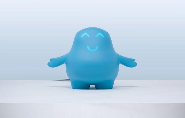 Photo de Meyko, objet connecté qui aide les enfants asthmatiques à prendre seuls leur traitement.