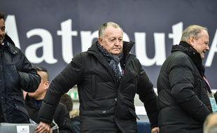 Jean-Michel Aulas dans les tribunes lors de Bordeaux-Lyon, le 28 janvier.