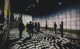 Vue de l'exposition Paris Musique Club à la Gaîté lyrique, imaginée par le collectif Scale