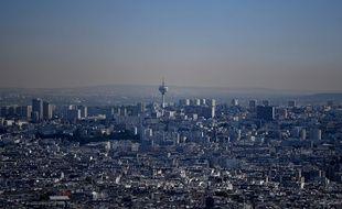La ville de Paris sous un nuage de pollution le 6 août 2018.