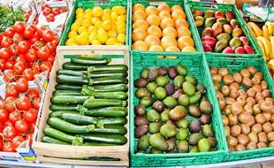 Fruits et légumes, illustration