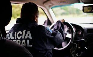 Un véhicule de la police fédérale mexicaine.