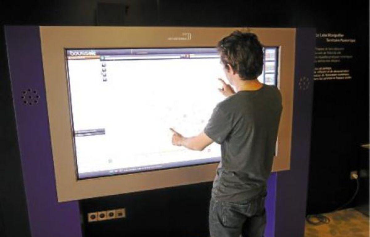 Les données ouvertes sont aussi consultables sur les écrans de la mairie de Montpellier. –  A. BOULA RAND / 20 MINUTES
