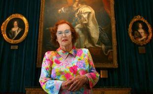 Jeanne Augier dans son hôtel à Nice le 22 avril 2009.