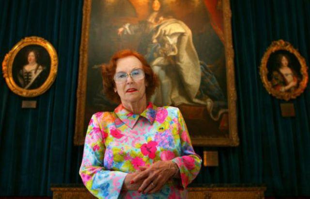 Jeanne Augier dans son hôtel à Nice le 22 avril 2009
