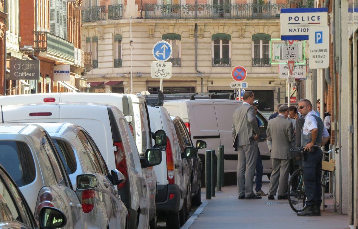 La rue du Rempart Saint-Etienne à Toulouse, après l'agression d'un policier au couteau, le 30 août 2016. – N. Stival / 20 Minutes