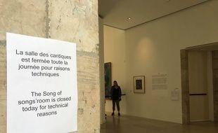 La salle du Cantique des Cantiques de Chagall est fermée au public.