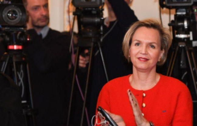 Virginie Calmels, lors de la conférence de presse de départ d'Alain Juppé