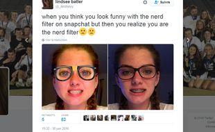 Comme l'utilisatrice sur Twitter @_llindseyy, plusieurs adolescents ont souligné leur ressemblance avec le filtre proposé par l'application.