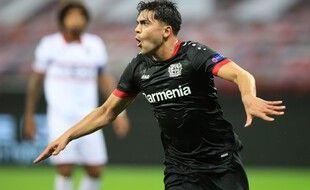 Amiri marque pour Leverkusen face à Nice en Ligue Europa.