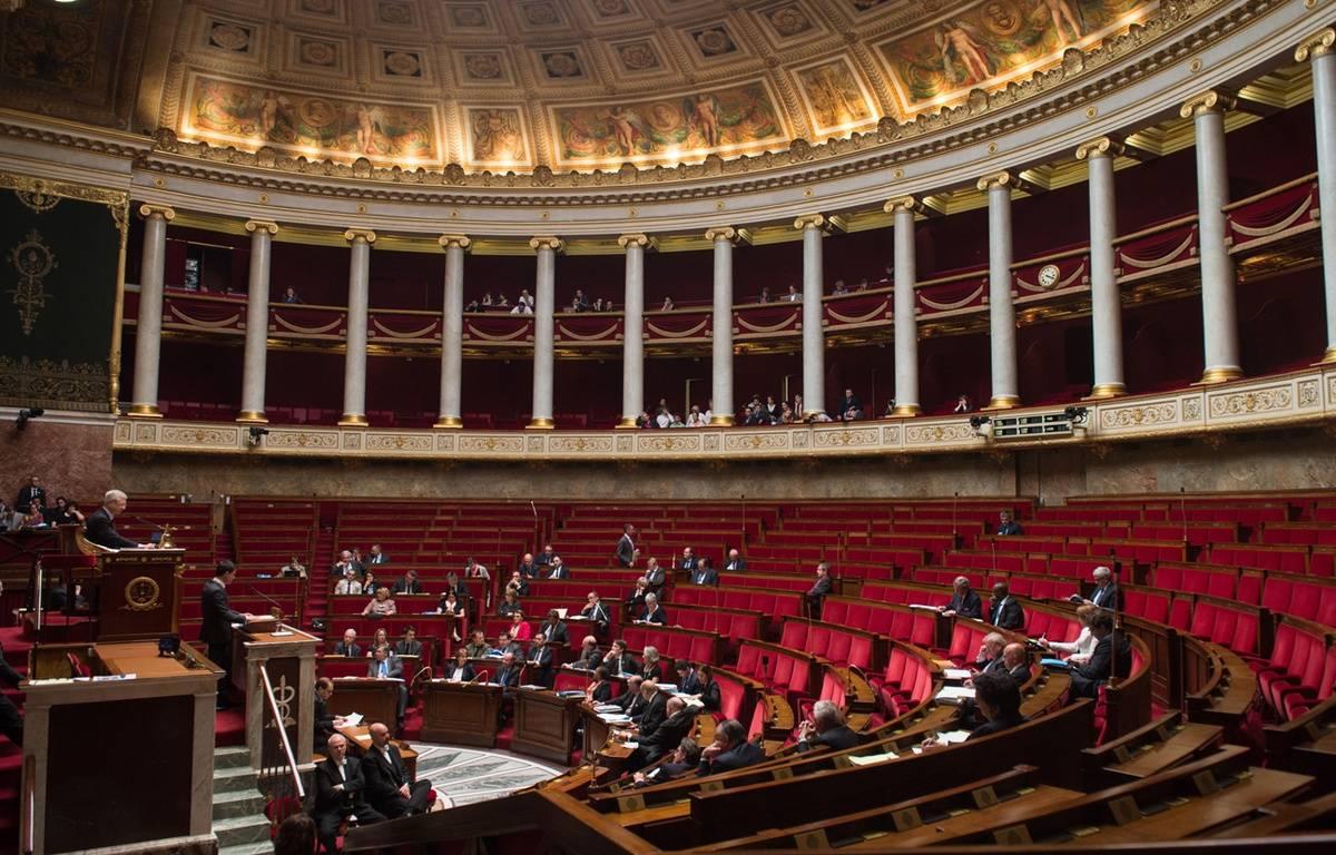Assemblée nationale, le 13 avril 2015. Rares étaient les députés présents lors de l'examen du projet de loi sur le renseignement. – WITT/SIPA