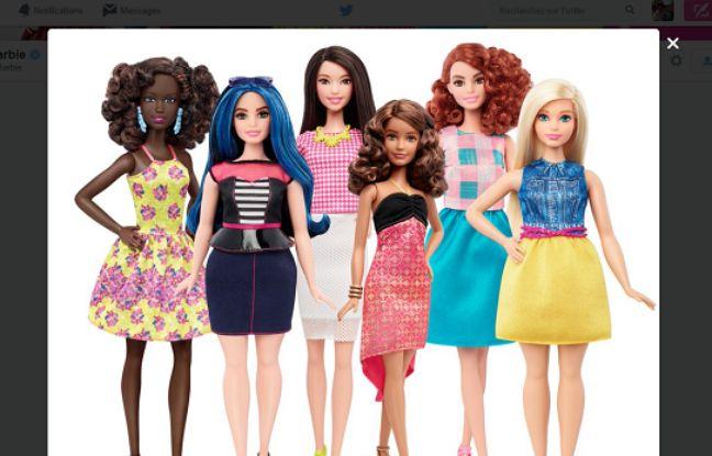 Capture d'écran du tweet annonçant la nouvelle ligne de poupées Barbie.