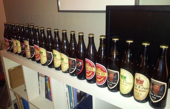 La bouteille la plus à droite prouve que cette bière a été approuvée par Chuck Norris...