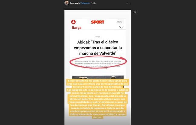 La réponse de Lionel Messi à Eric Abidal.
