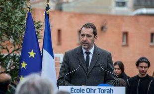 Le ministre de l'Intérieur, Christophe Castaner, le 19 mars 2019, à Toulouse, lors de la cérémonie d'hommage aux victimes des attentats perpétrés par Mohamed Merah.