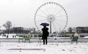 Les Tuileries (Paris) sous la neige le 4 décembre 2010.