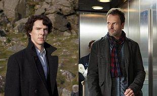 Le Sherlock Holmes du XXIème siècle version BBC (à gauche) et celui de CBS (à droite).