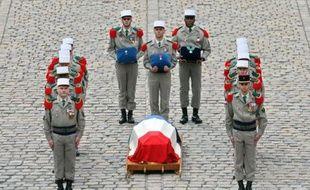 La cérémonie d'hommage à Lazare Ponticelli, aux Invalides, à Paris, le 17 mars 2008