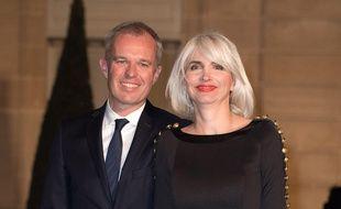 Francois de Rugy et sa femme Séverine Servat de Rugy à l'Elysée en mars 2018