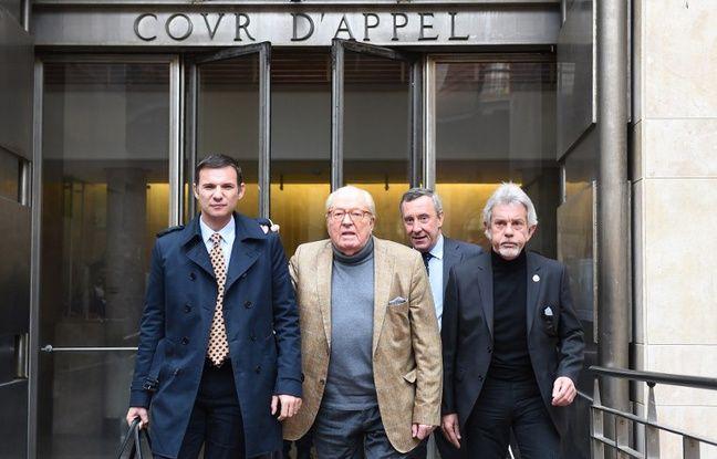 Jean-Marie Le Pen quittant la cour d'appel d'Aix en Provence