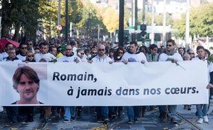 Marche Blanche en hommage a Romain Barre tué le 28 septembre 2016 par deux jeunes hommes a Nantes. S.Salom-Gomis/Sipa