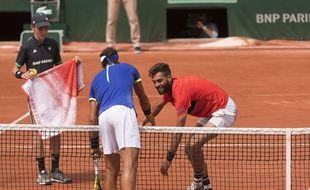 Nadal et Paire, en pleine scène de fair-play