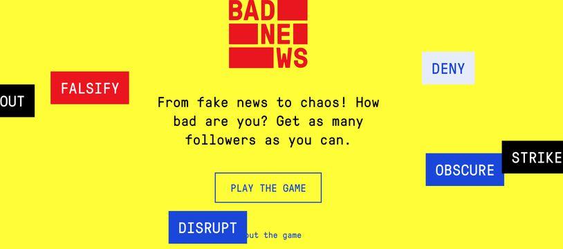 Capture d'écran du jeu en ligne pour lutter contre les fake news.