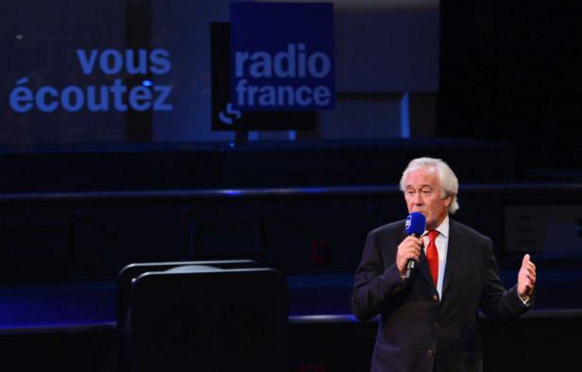 Jean-Luc Hees, le patron de Radio France, lors d'une conférence de presse le 4 septembre 2012. – MIGUEL MEDINA / AFP