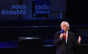 Jean-Luc Hees, le patron de Radio France, lors d'une conférence de presse le 4 septembre 2012.
