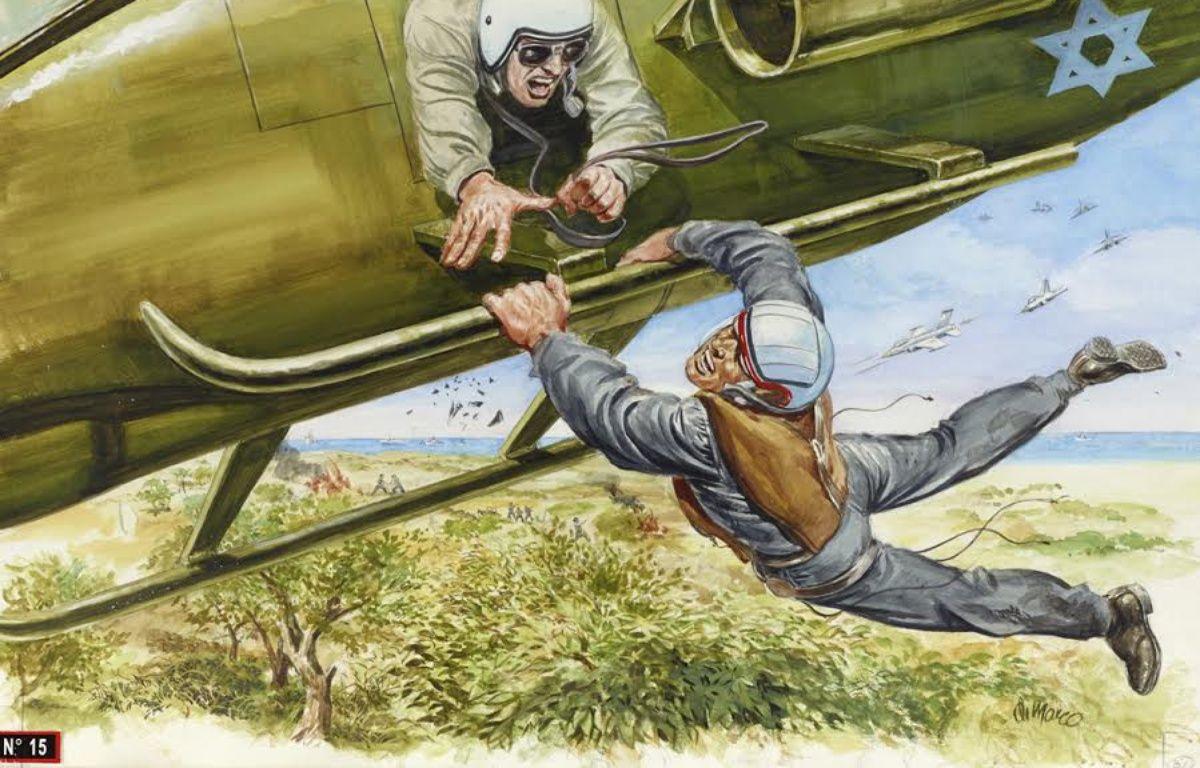 «Récupération in extremis d'un soldat israélien cerné par l'ennemi», illustration parue dans «France Soir Magazine» en 1994. – Angelo DI MARCO