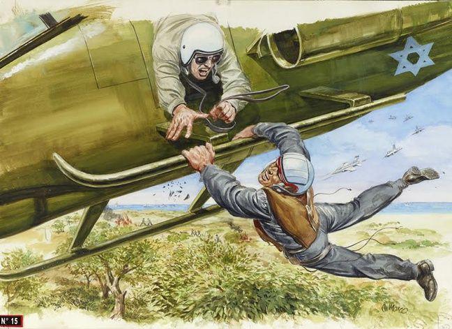 «Récupération in extremis d'un soldat israélien cerné par l'ennemi», illustration parue dans «France Soir Magazine» en 1994.
