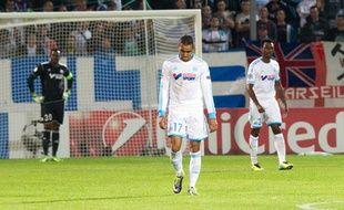 Dimitri Payet lors du match de Ligue des champions entre l'OM et Naples le 22 octobre 2013.