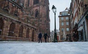 Il a aussi neigé cette semaine à Strasbourg.