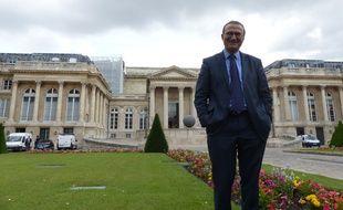 Hervé Mariton, député de la Drôme et candidat à la présidence de l'UMP, le 30 juin 2014 à l'Assemblée nationale.