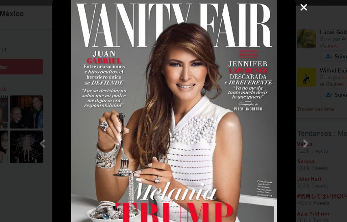 Capture d'écran de la couverture du numéro de février du magazine «Vanity Fair» au Mexique.  – Vanity Fair México