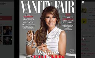 Capture d'écran de la couverture du numéro de février du magazine «Vanity Fair» au Mexique.