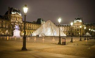 La pyramide du Louvre, à Paris. (Illustration)