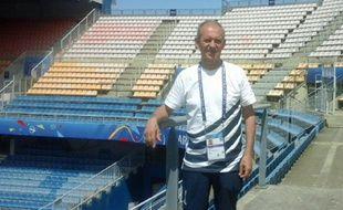 René Castro, quelques heures avant l'arrivée des supporters lors du match Brésil - Australie comptant pour la Coupe du monde de football féminine, au stade de la Mosson.