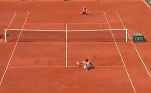 le point sur les fesses de Strycova et Radwanska, le 26 mai 2016 à Roland-Garros.