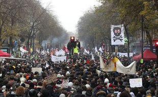 Le cortège parisien du 5 décembre 2019 contre la réforme des retraites.