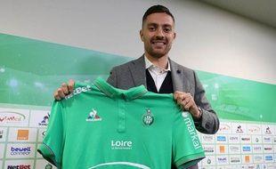 Anthony Mounier avait posé avec le maillot vert vendredi dernier à Saint-Etienne.