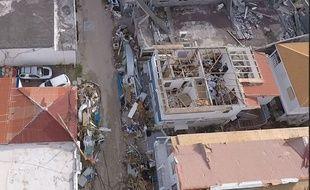 Une équipe du ministère de l'Intérieur a survolé l'île de Saint-Martin en drone.