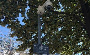 Une des caméras de vidéo-surveillance quai de Paludate à Bordeaux (illustration).